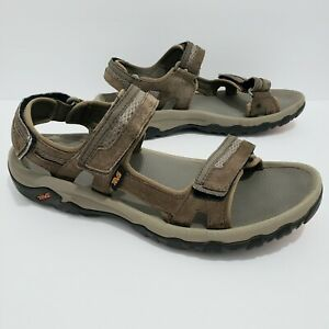 Teva Hudson Sandals Men's size 11 Brown Bungee Cord 1002433 Suede Hiking Trail