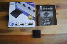 Carte mémoire (Memory Card) 251 blocs Nintendo Game Cube avec boite d'origine