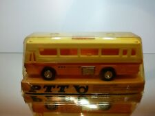 VINTAGE PLASTIC SWISS POSTAL BUS - YELLOW 1:43 FRICTION - GOOD CONDITION IN BOX