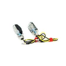 Mini Micro Motorcycle LED Indicators Blinkers Turn Signal Black - Tiny!
