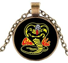 Glass Domed Pendant Necklace Karate Kid Cobra Kai
