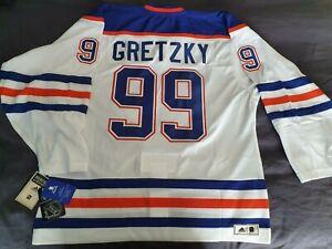 NHL Edmonton Oilers Adidas #99 GRETZKY Heroes of Hockey Jersey, Size 52(L)