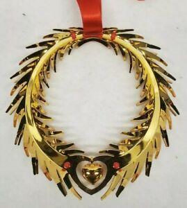 Georg jensen christmas ornament Wreath gold plated made in Denmark