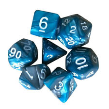 7pcs TRPG Game Dungeons & Dragons Polyhedral D4-D20 Multi Sided Acrylic Dice BU