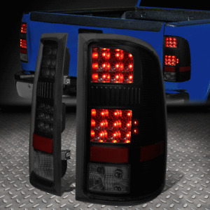 [FULL LED]FOR 07-14 GMC SIERRA 1500 2500HD 3500HD TAIL LIGHT BRAKE LAMPS TINTED