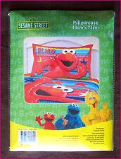 ELMO - Bright Kids PILLOW CASE 48 X 73cm - SESAME STREET Red Elmo Pillowcase NEW