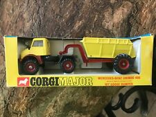 Vintage CORGI MAJOR - Mercedes-Benz UNIMOG 406 10-T- Goose Dumper #1145 MIP