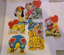Vintage Valentines 1960's Great Condition 5 Pcs. Dog, Fishing, Novelty Assorted