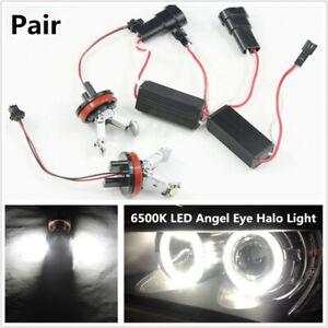 Car 6500K LED Angel Eye Halo Light Aperture Bulb For BMW 1/3/5series E90 E92 E93