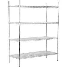 """Heavy Duty 24"""" x 54"""" x 74"""" Silver Rack Storage Wire Shelf Kit Commercial Chrome"""
