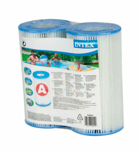 INTEX A or C Universal Swimming Pool Replacement Filter Cartridge 2 Pack NEW