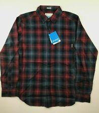 Columbia Mens 2XL Red Blue Plaid Cooper Lake Long Sleeve Casual Shirt NWT New