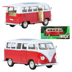1:24 Red VW 1963 Volkswagen T1 Bus Diecast Model Car Collector Kids Model Car 8+