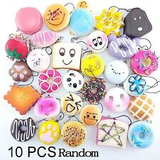 10/20/30 PCS Food Resin Flatback Random Kawaii Mini Soft Squishy Foods Panda ...