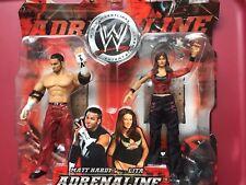 WWE Adrenaline Series 9 Matt Hardy & Lita Jakks Pacific Wrestling FIGURE Set NIB