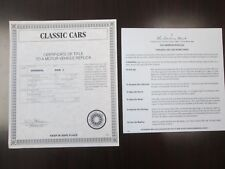 Danbury Mint Paperwork 1934 Hispano Suiza J12 Cabriolet