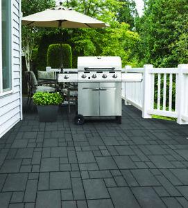 10 x Mosaic Garden Patio Interlocking Composite Decking Floor Tiles 30x30cm