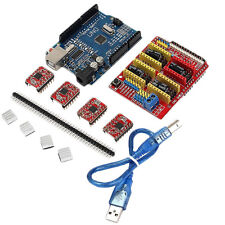 Geekcreit® CNC Shield UNO R3 Board 4xA4988 Driver Kit With Heatsink For Arduino