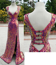 Cassandra Stone by MacDuggal Raspberry $458 Prom Gown 4