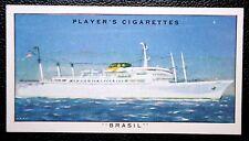 SS BRASIL   Moore McCormack Liner    Vintage Colour Card  VGC