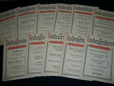 1922 THE INDEPENDENT MAGAZINE LOT OF 33 ISSUES - GREAT ADS & PHOTOS - WR 747