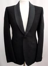 HARDY AMIES Black MONOGRAM TUXEDO JACKET Blazer IT52R, UK42 rrp750GBP