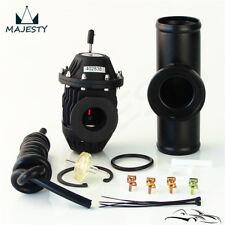 "SSQV Blow Off Valve SQV4 + 2"" 50mm Alloy Flange Adapter Pipe For HKS BOV Black"