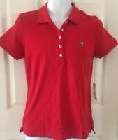 New U.S. Polo Assn.Mens Classic Fit Solid Short Sleeve Polo Shirt Red Medium NWT