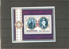Manama Block 170 Armstrong Eisenhauer Pfadfinder postfrisch