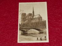YVON - PARIS EN FLANANT Abside Notre Dame de Paris 1919 Hélio 2e série - 32 CPA