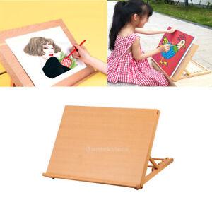 Wooden Desktop Easel, Drawing Board Table Easel Craft Workstation Adjustable for