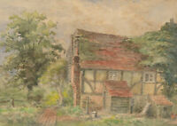 Vera - 1926 Watercolour, An Old Farmhouse, near Henfield, Sussex