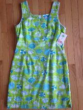 Lilly Pulitzer Krista Dress Beach Umbrella Vintage White Label Size 10 8 6 NWT