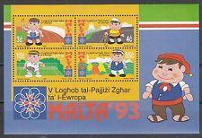 Malta Block 12 postfrisch, Sportspiele der europäischen Kleinstaaten
