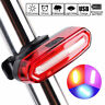 USB Rechargeable COB LED Bicycle Cycling Bike Rear Tail Light Lamp Taillight