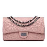 Flower Lambskin Handbag Genuine Sheepskin Leather Women Chain Shoulder pink