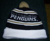Authentic STITCHED/Knit PITTSBURGH PENGUINS LABATT BLUE Beer HEAVY WINTER HAT