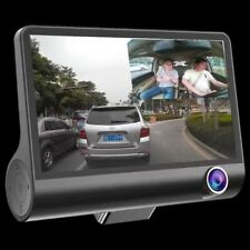 "HD 1080P Car DVR 4""Dual Lens Dash Cam Rear Camera Video Recorder G-sensor"
