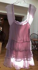 AUTHENTIC CHANEL 100% silk chiffon ruffled lavender dress sz 6 beautiful SEXY!!