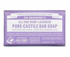 DR BRONNER FAIRTRADE PURE LAVENDER CASTILE SOAP 140g - VEGAN