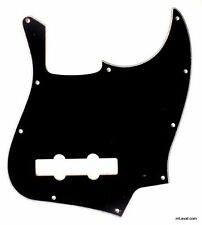 NEW Standard Jazz Bass Pickguard BLACK 10 Hole 3 Ply for USA Fender JB Guitar