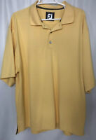 FOOTJOY FJ Mens XL Yellow Polo Golf Shirt Short Sleeve