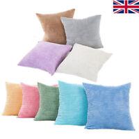 18 Inch Jumbo Cord Corncob Corduroy Plush Cushion Cover Pillow Case Home Decor