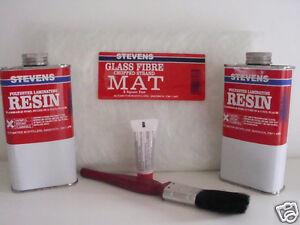 Stevens Fibre Glass Mat Repair Kit ( Large Kit ) 8' sq  Free P&P