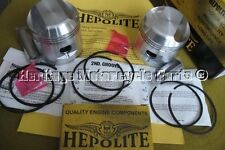 2 hepolite Pistons TRIUMPH T120 1959-75 + 040 O' / Size circlips axes joints