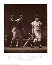 YANKEE ART PRINT Roger Maris - 61st Home Run 1961 by Herb Scharfman 24x30 Poster