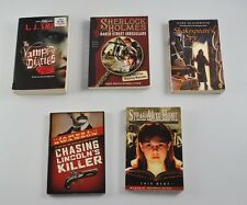 Lot of 5 Young Adult Suspense Books Paperback Vampire Sherlock Holmes  DD6P12