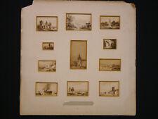 Jean-Marie Oscar GUÉ (1809-1877) Ensemble de 11 lavis né à Bordeaux musées coll.