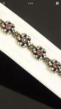 Antique Vintage Ruby & Sapphire .925 Silver Bracelet. (23Gram).