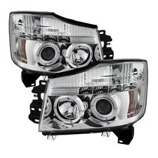 Spyder 5011589 Halo LED Projector Headlight Black For 05-07 Armada 2pc NEW